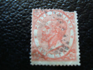 Italy-Stamp-Yvert-and-Tellier-N-21-Obl-2eme-Choice-Tooth-A11-A