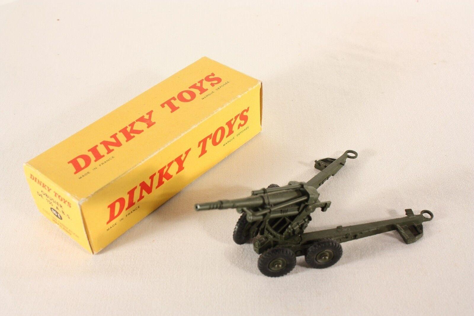 DINKY TOYS 80 E, obusier de 155 a.  B.S., Comme neuf Dans Box  ab746  qualité authentique