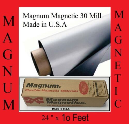 """24/"""" width x 10 Ft ROLL 30 Mil.Magnetic by the roll  Sign Sheet Cars Magnum usa"""