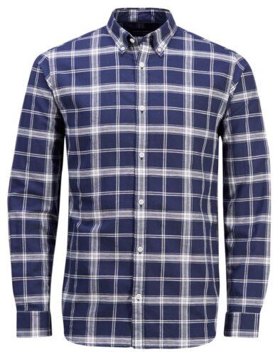Premium amp; Da Jack Lunga shirt A Aderente Uomo Casual Quadretti Manica Jones T BHEw4nxqFE