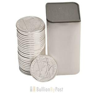 25-x-1oz-UK-Silver-Britannia-Coins-full-tube