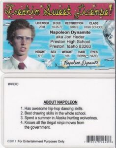 License Sweet Freakin Fake Jon Id Napoleon Dynamite Drivers Ebay Heder Card