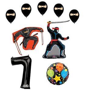 Ninja-7th-Birthday-Party-Supplies-and-Balloon-Decorations