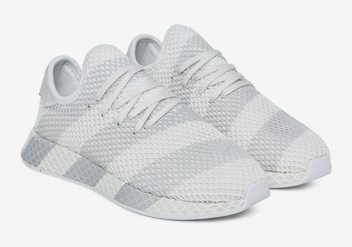 Adidas Consortium Deerupt Stripes white grey AC7755 Mens Sizes