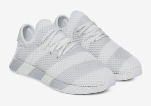 cheap for discount 0f741 26513 Image is loading Adidas-Consortium-Deerupt-Stripes-white-grey-AC7755-Mens-