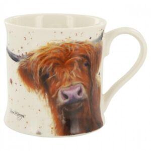 Highland-Vache-Tasse-Emballe-Bree-Merryn-Bas-sur-le-Ferme-Betsy-Fin