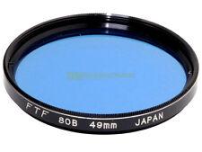 49mm. filtro di conversione 80b blu FTF. 80b filter.