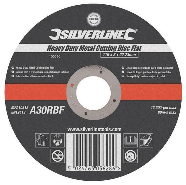 Heavy Duty 115mm x 1mm x 22.2mm Angle Grinder Metal Slitting Disc Flat