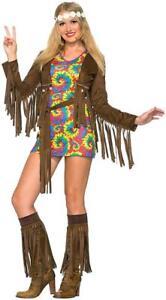 Hippie Girl Halloween Costume.Details About Shimmy Mini 60 S Hippie Girl Flower Child Fancy Dress Halloween Adult Costume