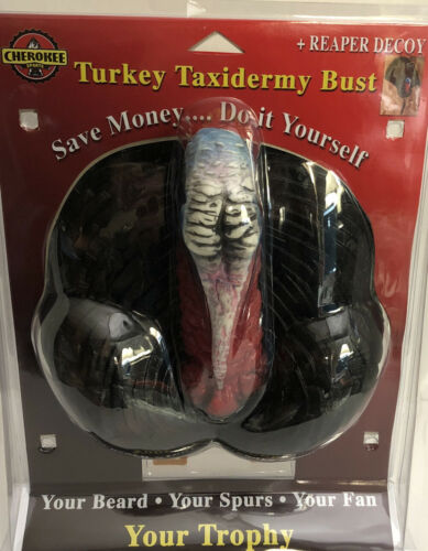 Details about  /Turkey Taxidermy Bust Large Mount /& Reaper Decoy Cherokee-Save Money Do Yourself