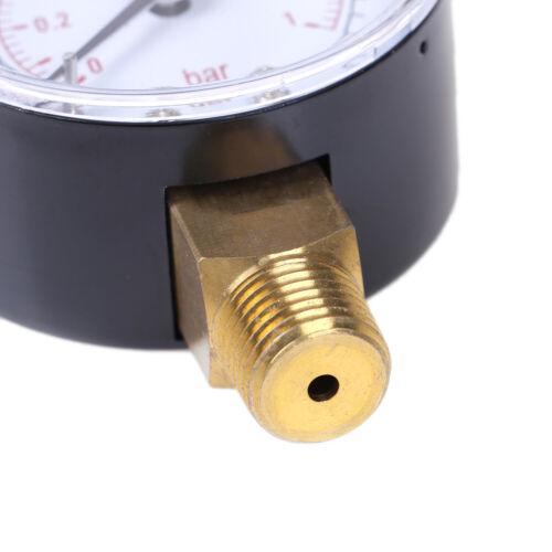 Low pressure gauge for fuel air oil gas water 50mm 0-15 PSI 0-1 bar 1//4 BSPT PDH