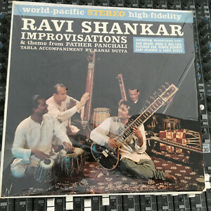 Ravi-Shankar-IMPROVISATIONS-Bud-Shank-Peacock-World-Pacific-VINYL-LP-RECORD