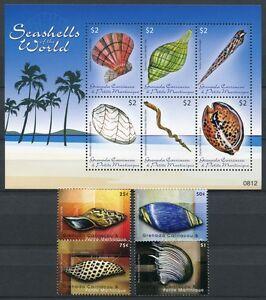 Grenade Grenadines 2009 Coquillages Shells 4472-4481 ** Neuf Sans Charnière-afficher Le Titre D'origine Brillant