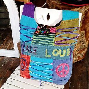 Gringo-Tie-Dye-Festival-Bag-Fair-Trade-Peace-Love-Ethnic-Shoulder-Hippy-Hippie