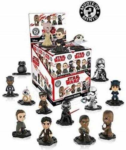 Star Wars Mystery Minis Bobble-Head cieco BAG BOX VINILE 12 PEZZI NUOVO Funko Pop