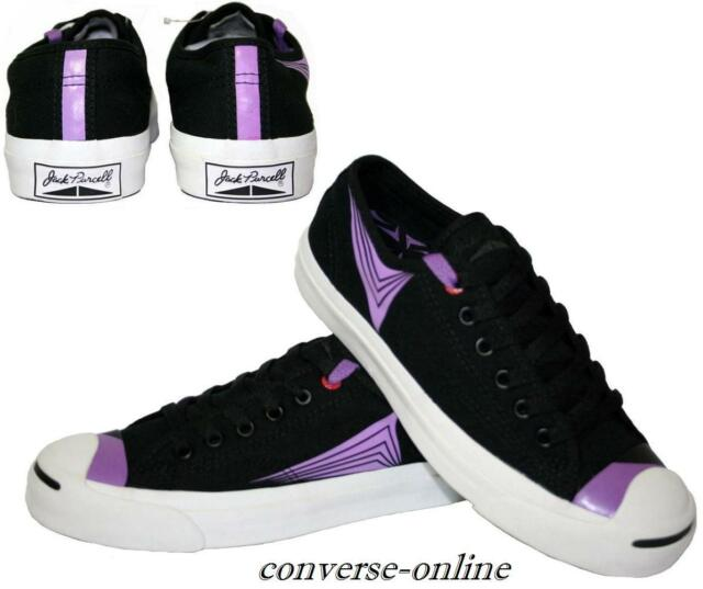 dd7e97a391e3 Womens Boys CONVERSE All Star JACK PURCELL BLACK PURPLE Trainers Shoes SIZE  UK 5