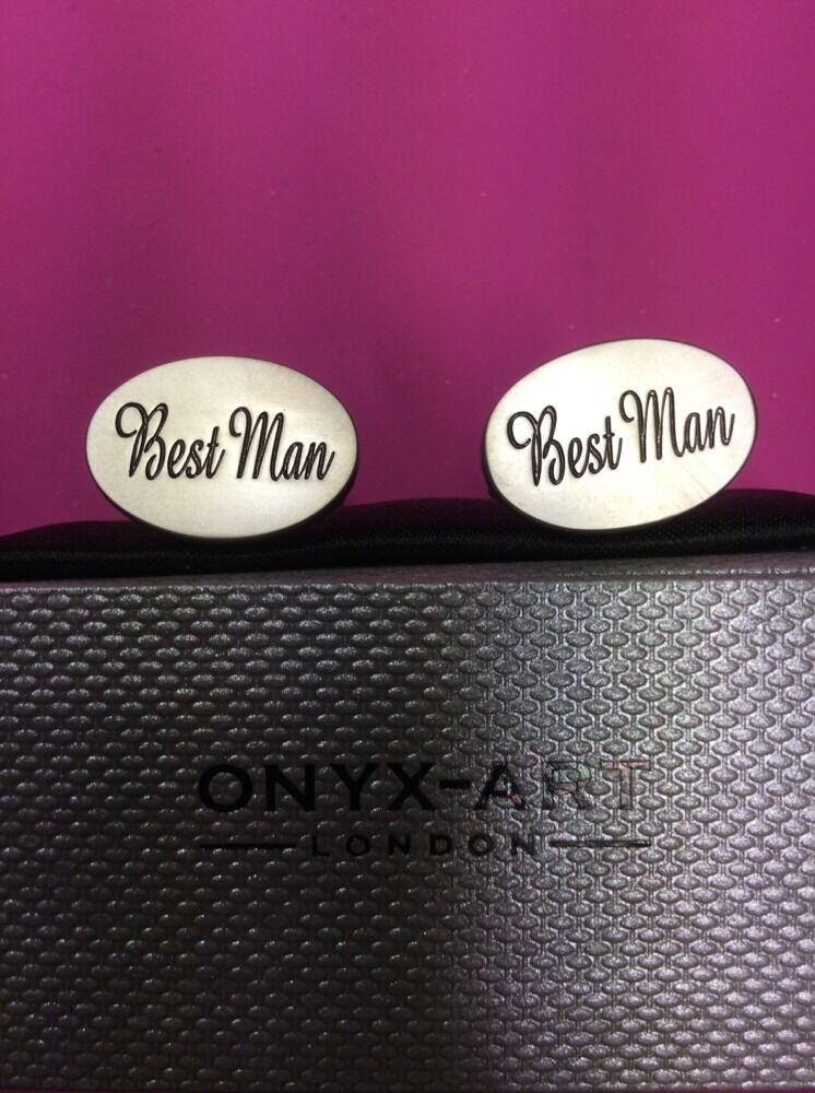 **REDUCED** Best Man Cufflinks by Onyx Art CK 531