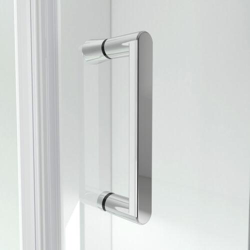 Duschtür Schwingtür Duschabtrennung Dusche Duschkabine mit Seitenwand 185//195cm