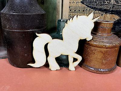 WOODEN UNICORN SHAPE A LITTLE PONY Multiple Sizes Fairytale Wood Shape Craft
