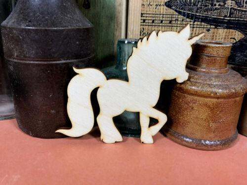 Unicorn Forme C en bois Petit Poney Tailles multiples de conte de fées en bois forme Craft
