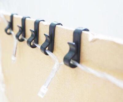 Gutter Hooks Clips Pk 50//100//200 Fairy Light String Icicle Lights Christmas