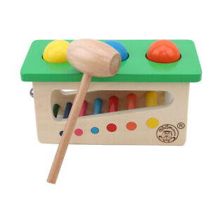 Rainbow-Ringing-Kicking-Beating-Table-Bells-Wooden-Early-Educational-Toys-ONE