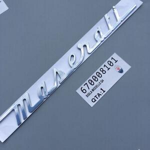 Auto-Heck-Emblem-Aufkleber-Abziehbild-Abzeichen-Zubehoer-Logo-fuer-Maserati-Ghibli