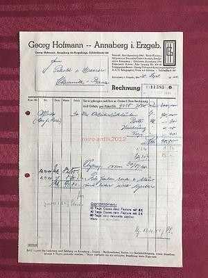 Annaberg Rechnung A4 1944; 5026-32 Der Preis Bleibt Stabil Georg Hofmann