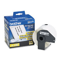 Brother Die-cut Shipping Labels 2.4 X 3.9 White 300/roll Dk1202 on sale
