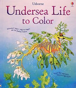 image is loading usborne adult coloring books undersea life to color - Usborne Coloring Books