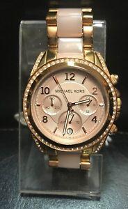 Details about MICHAEL KORS BLAIR ROSE GOLD CHRONOGRAPH DIAL BLUSH WOMEN'S WATCH MK5943