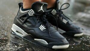 Tech Ls Nike Classic Nero Jordan 10uk Iv Air Retro 4 Oreo Grigio x8Ta18w