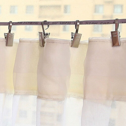 10 Pcs//set Window Curtain Holder Stainless Steel Hook Clips Shower Curtain Clips