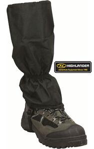 Highlander-Walking-Hiking-Cadet-Combat-Boot-Gaitor-Gaiter-Black-Waterproof-New