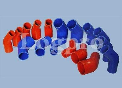 Durite Coude Silicone 45° degrés 51-63 mm 51mm 63mm 50x50mm ROUGE Neuf Tuning