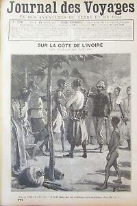 Zeitung-der-Voyages-Nr-771-von-1892-Afrika-Cote-D-Ivory-Soldaten-Gewehrschuetzen