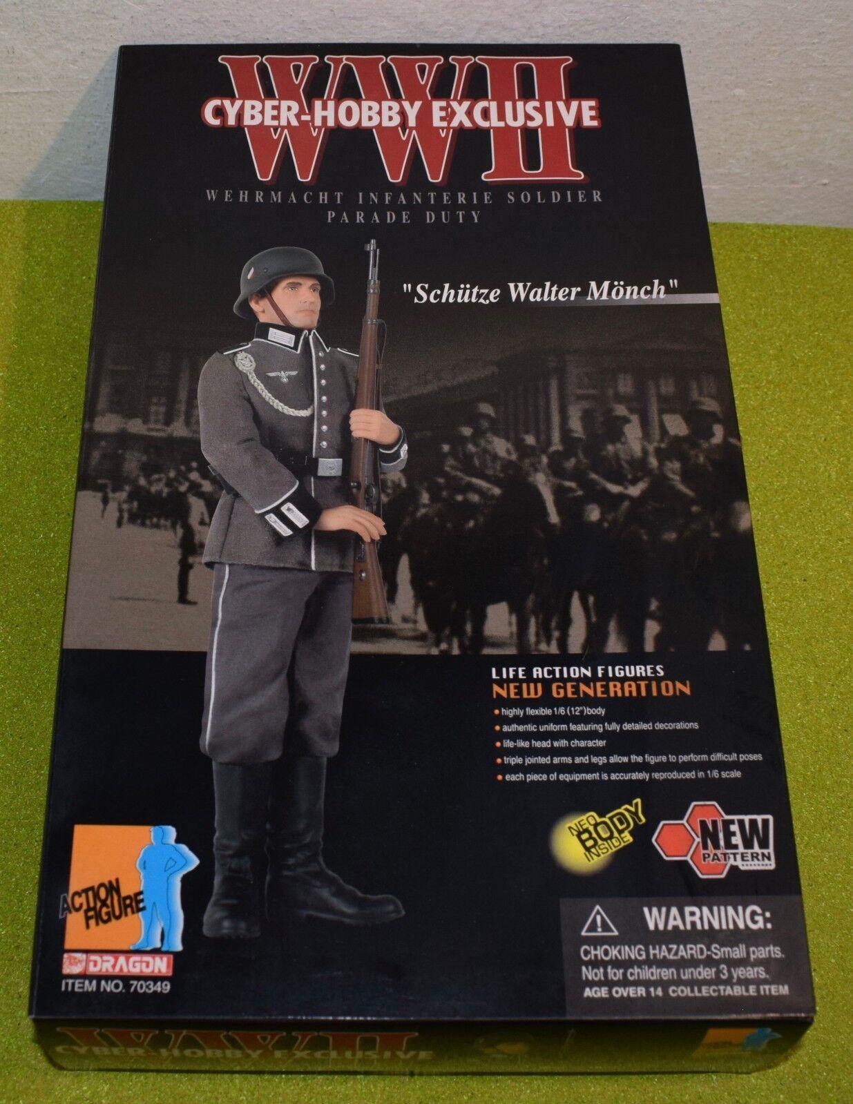 DRAGON 1/6 Scale Scale Scale WW II GerFemme Cyber Hobby Schutz Walter Monch parade Duty 8138de