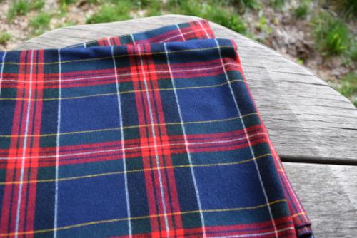Vintage Checkered Shawl, Blanket Wrap Scarf, Stole