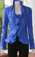 Caroline Morgan Royal Blue Leather Look Jacket Size 10 Brand