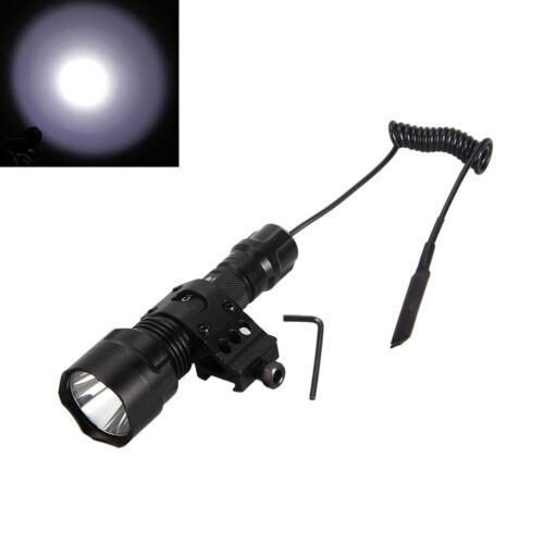 Taktisch 5000LM LED Jagd Licht Taschenlampe Fackel 45° Montieren Fernbedienung