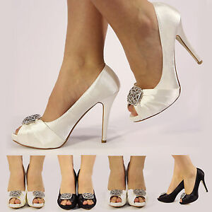 NEW-WOMENS-LADIES-SATIN-WEDDING-PROM-BRIDAL-EVENING-HIGH-HEEL-GEM-SHOES-SIZE-3-8