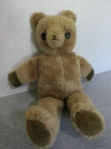 Antique-Vintage-Handmade-Sewn-Brown-Horsehair-Stuffed-Corduroy-Paws-Teddy-Bear