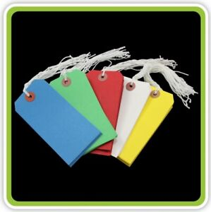 Yellow-Strung-Tie-On-Tags-Labels-Retail-Luggage-Tags-With-String