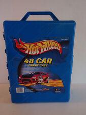Cars HOTWHEELS Blue Hard Carrying Case Organizer Holds 48 Toy Cars Tara