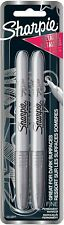 Sharpie Fine Point Metallic Silver Permanent Marker 1 Blister Pack 2 Markers New