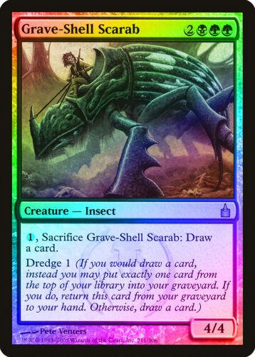 City of Guilds NM Rare CARD ABUGames Grave-Shell Scarab FOIL Ravnica