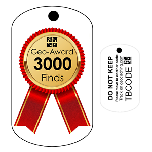 Pour Geocaching traçable Tag-oléfines Travel Bug 3000 Finds Géo-Award