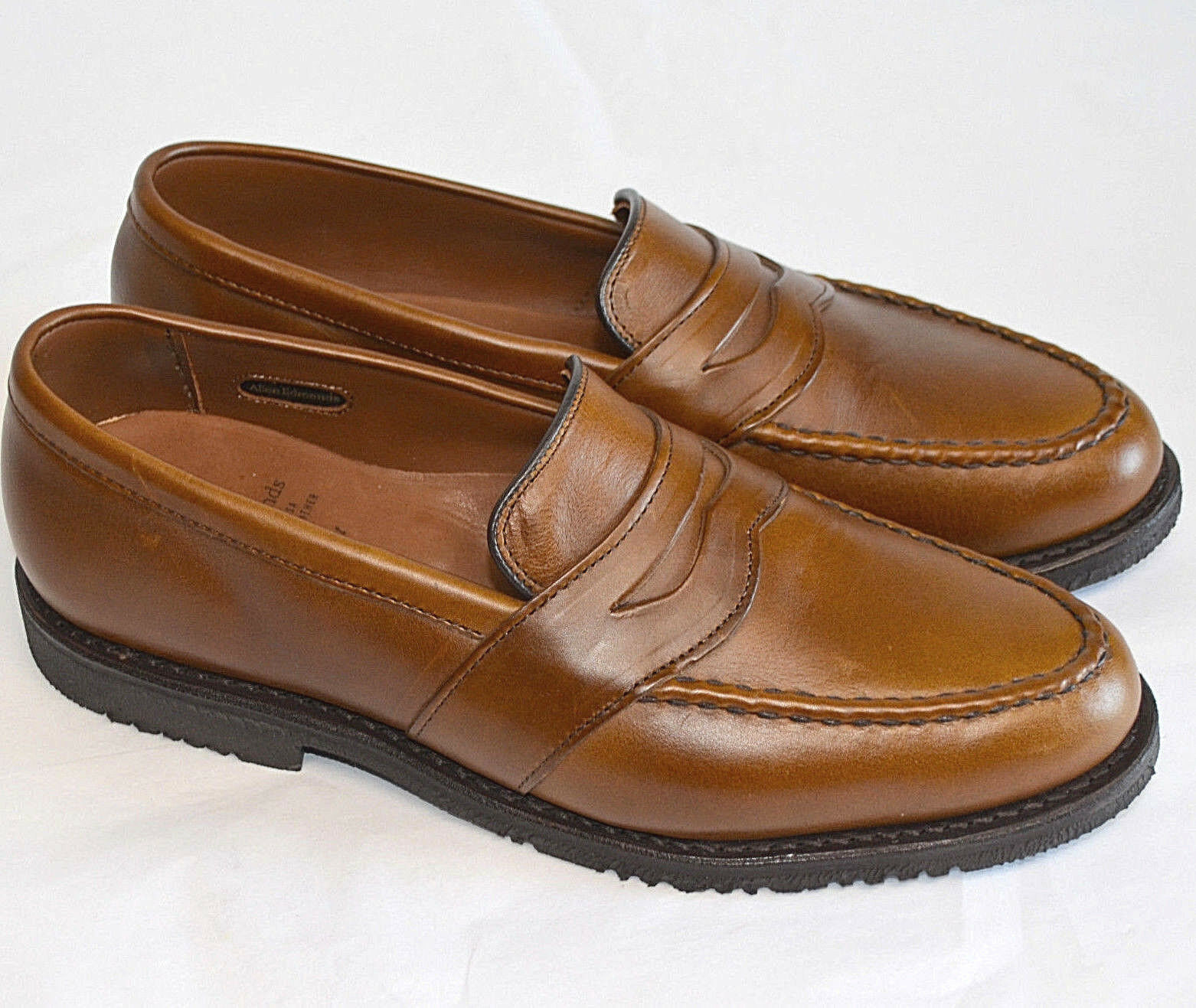 Allen Edmonds Fairmont Penny Mocasín Marrón Cuero Hombres 11D Vestido Informal Zapato Usa