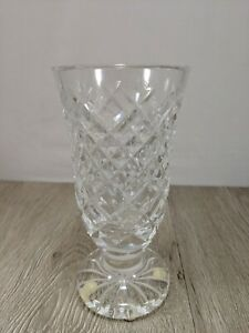 Image is loading Vintage-Waterford-Crystal-Floral-Flower-Vase-6-034- & Vintage Waterford Crystal Floral Flower Vase 6\