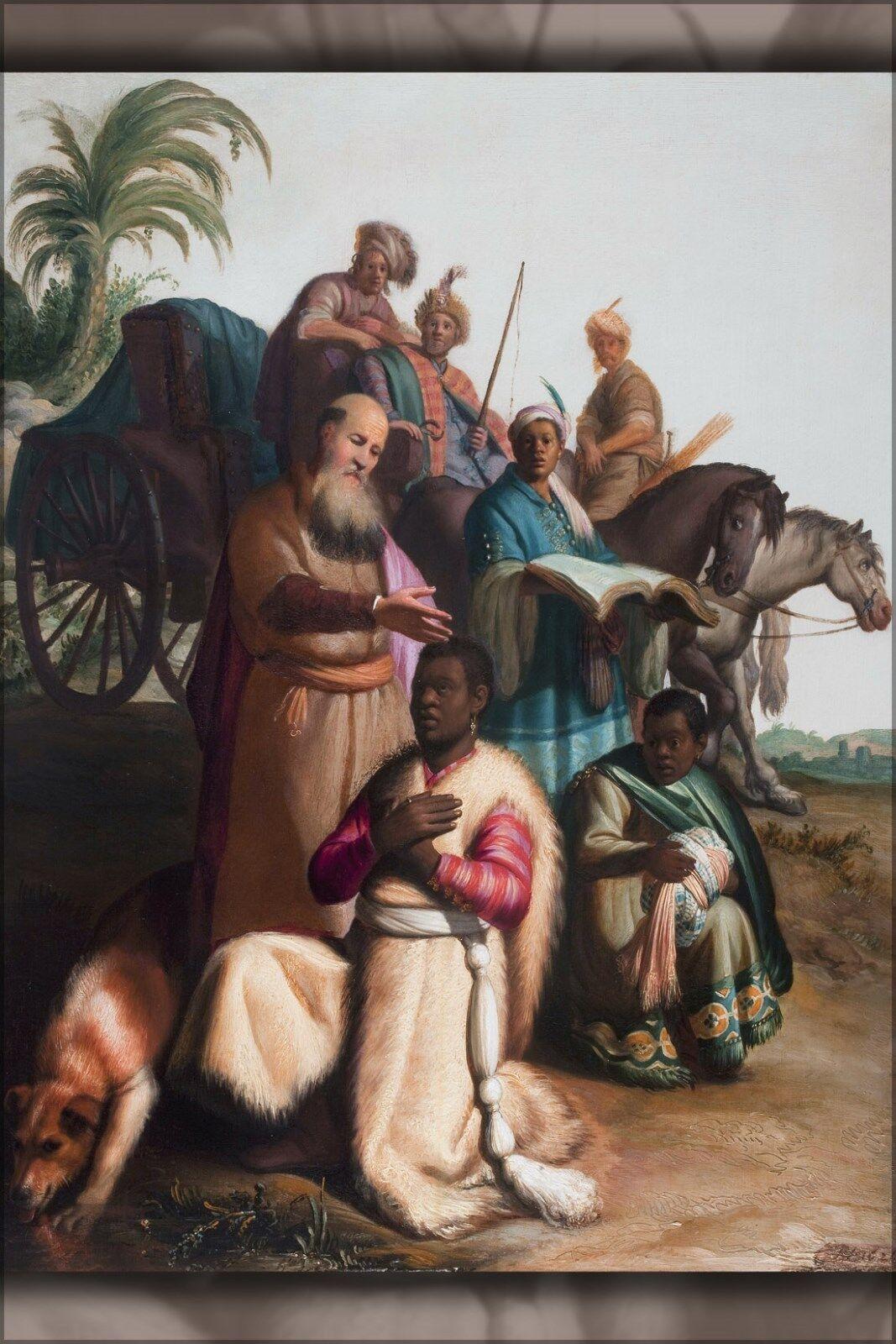 Plakat, Viele Größen ; die Taufe Of The Eunuch von Rembrandt 1626